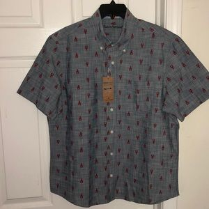 Tailor Vintage Lobster Print Chambray …